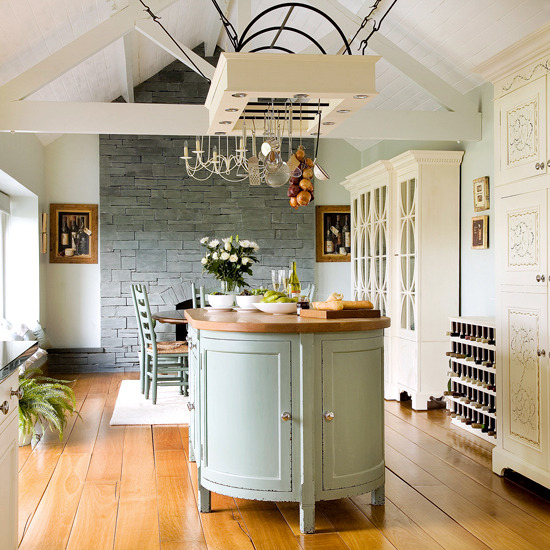 Kitchen Island Pot Rack Ideas