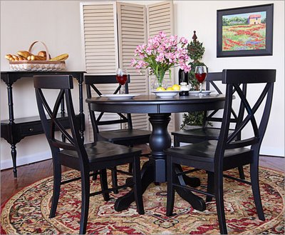 black table in the kitchen – bad manners, or a sign of good taste Black Kitchen Table